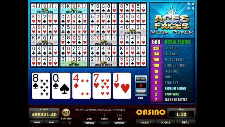 Игровой автомат Aces faces играть бесплатно, без регистрации